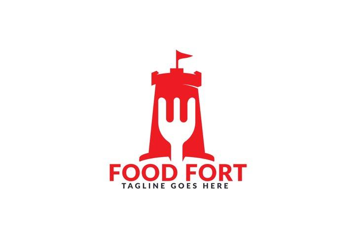 Food Fort Logo Design.