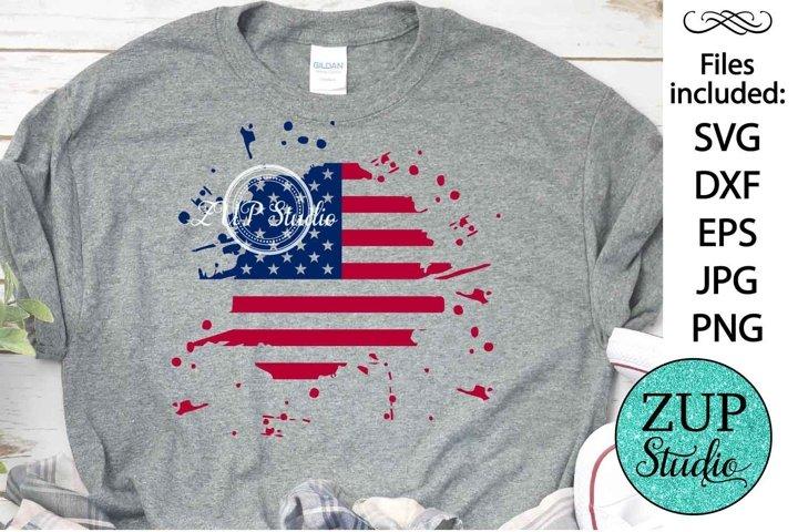 NEW! Splatter American Flag Design Digital Cutting files 508
