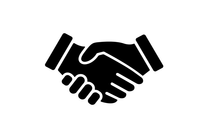 Handshake icon symbol business template isolated Vector