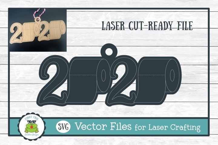 Toilet Paper 2020 Ornament SVG for Laser Crafters
