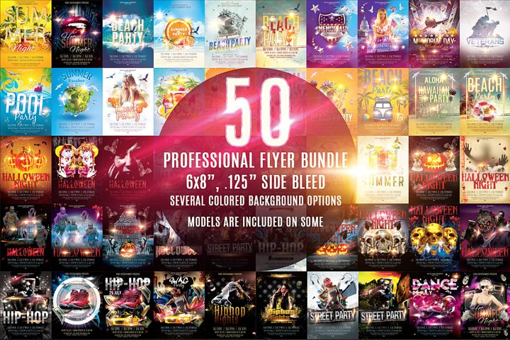 50 Professional Flyer Bundle