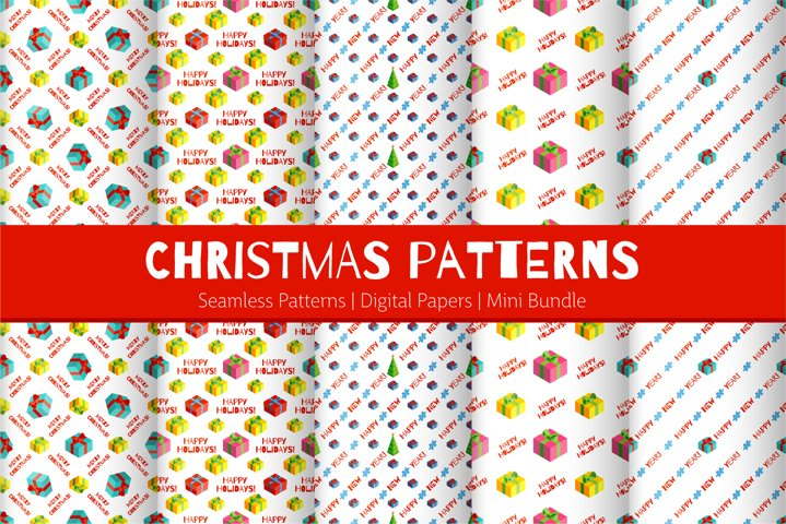 Christmas Gifts Patterns | Digital Papers