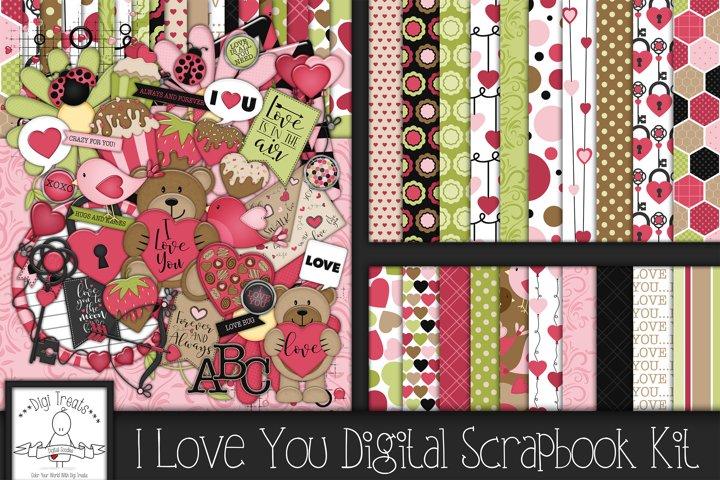 I Love You Digital Scrapbook Kit