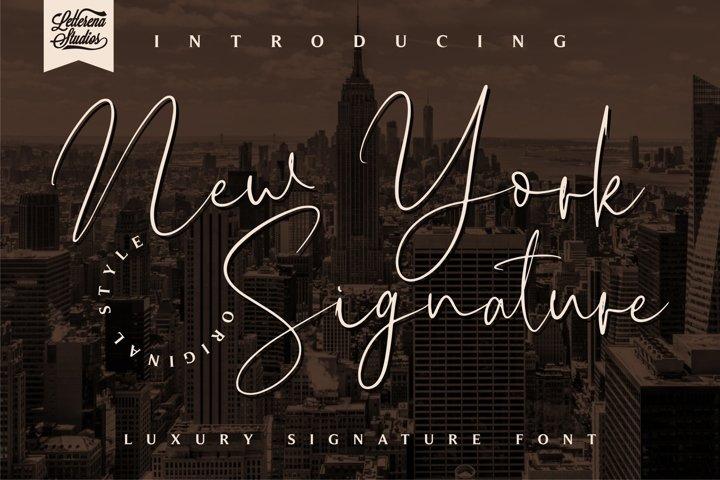 New York Signature - Luxury Signature Font
