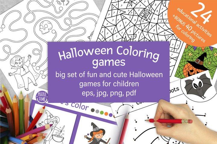 Halloween Coloring Games
