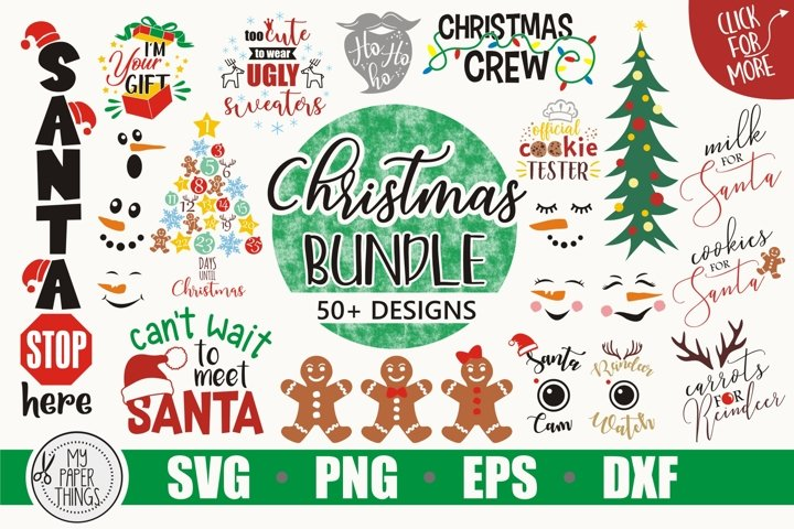 Christmas SVG bundle, cut file for crafter, Winter svg