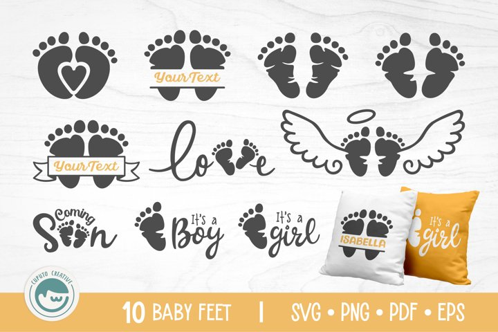 Baby Feet Bundle - A Baby Feet SVG
