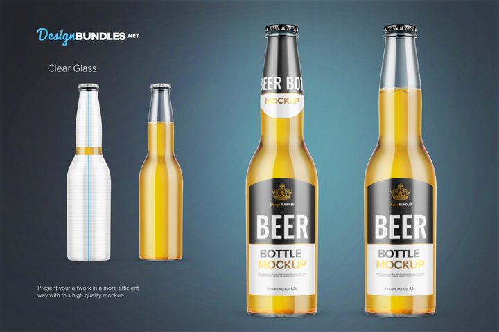 Beer Bottle Mockups example 1