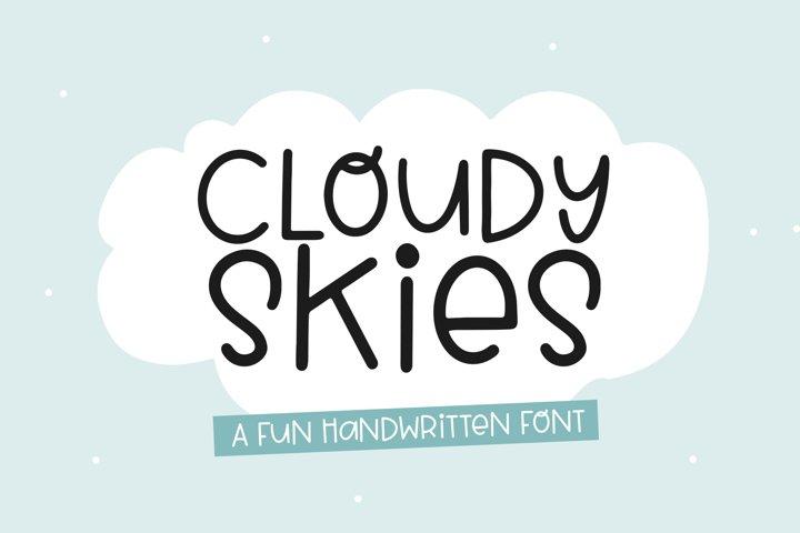 Cloudy Skies - A Fun Handwritten Font
