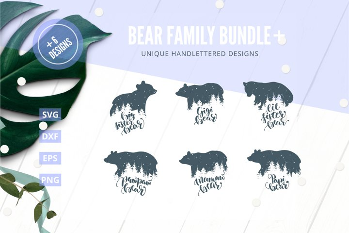 Bear family Bundle SVG Cut File Plus|SVG |DXF |EPS |PNG