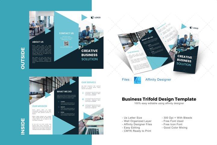 Creative business trifold brochure design template
