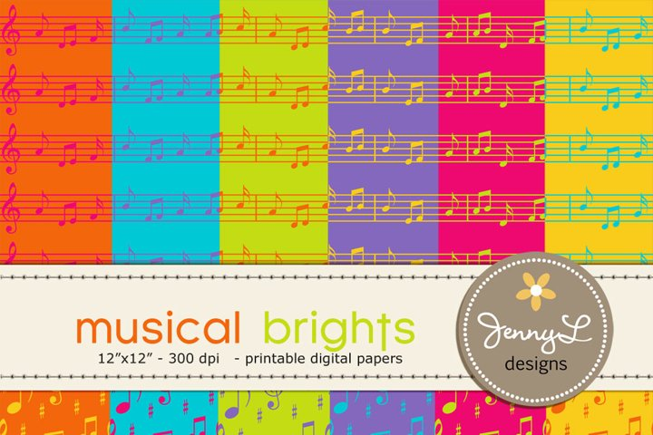 Musical brights Music Digital Papers