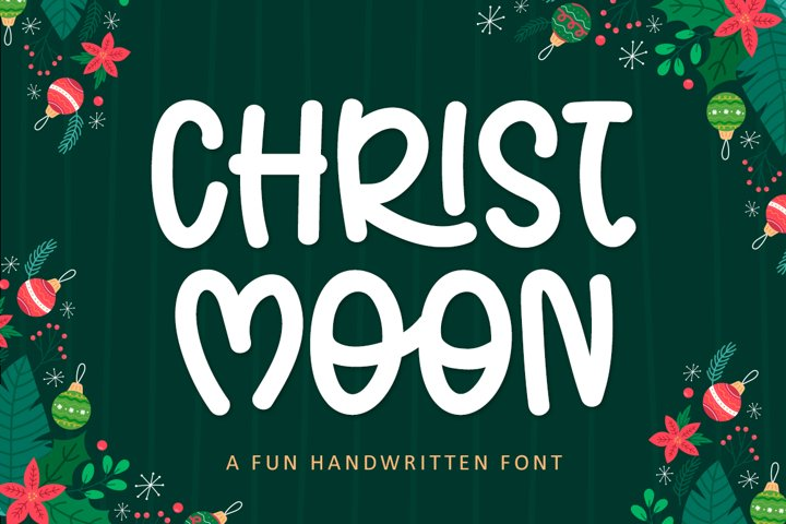 Christ Moon - A Fun Handwritten Christmas Font