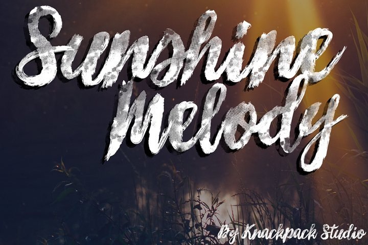 Sunshine Melody - Brush Script
