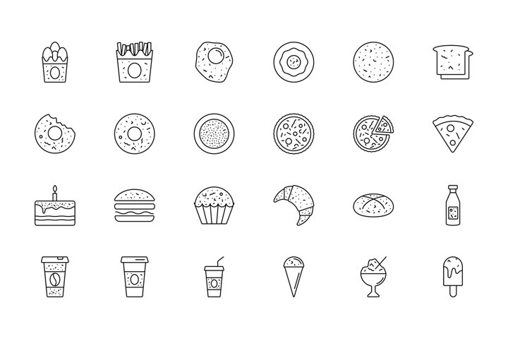 50 Food and Drink Icons
