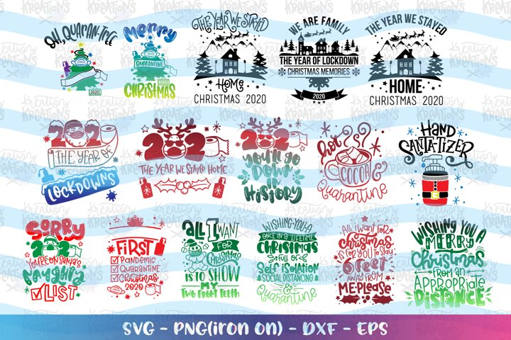 Christmas Mega Bundle svg Christmas Quarantine Pack 2020