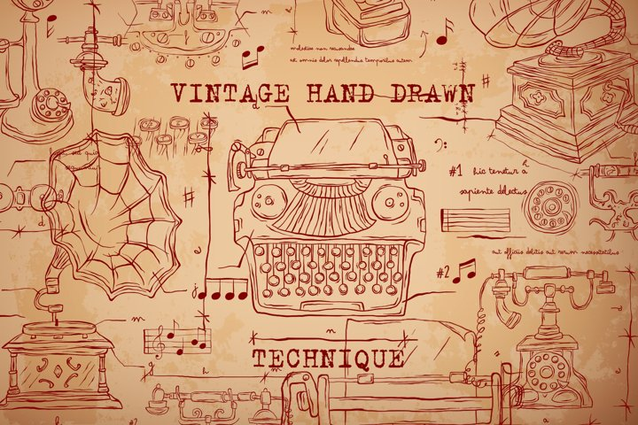 VINTAGE HAND DRAWN TECHNIQUE