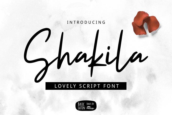 Shakila Script Font