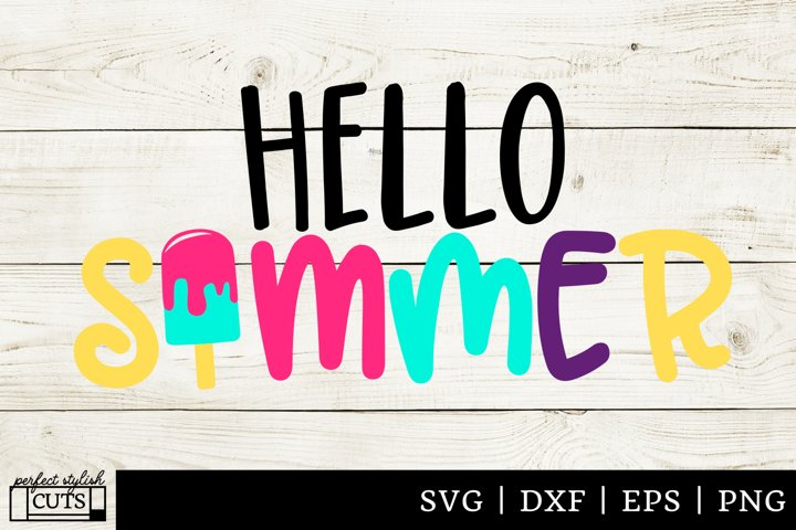 Summer SVG - Hello Summer Popsicle SVG File