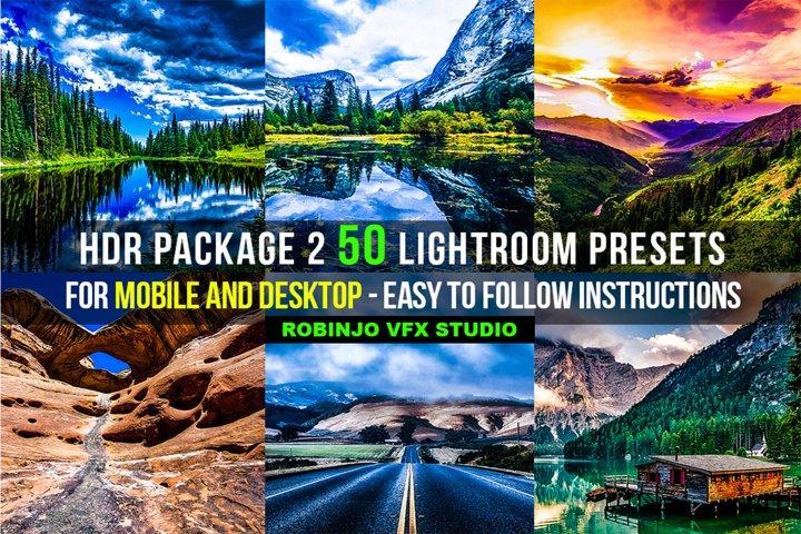 HDR 2 Package 50 Lightroom Presets