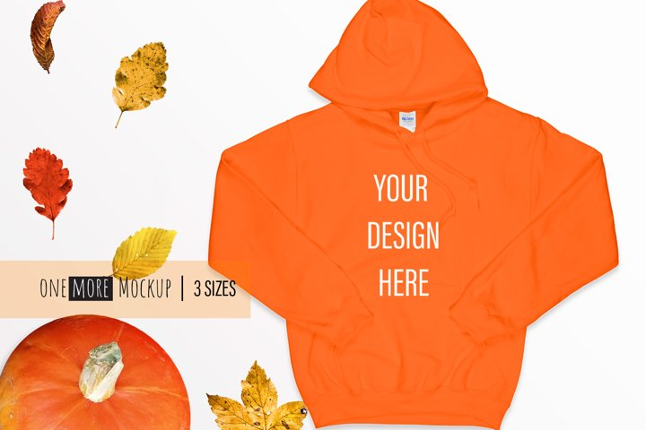 Fall Mockup | Gildan 18500 Orange | Orange Mockup