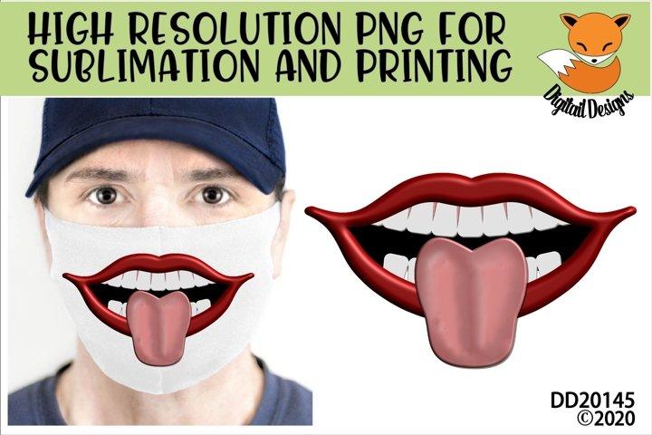 Funny Lips Sublimation Design For Masks