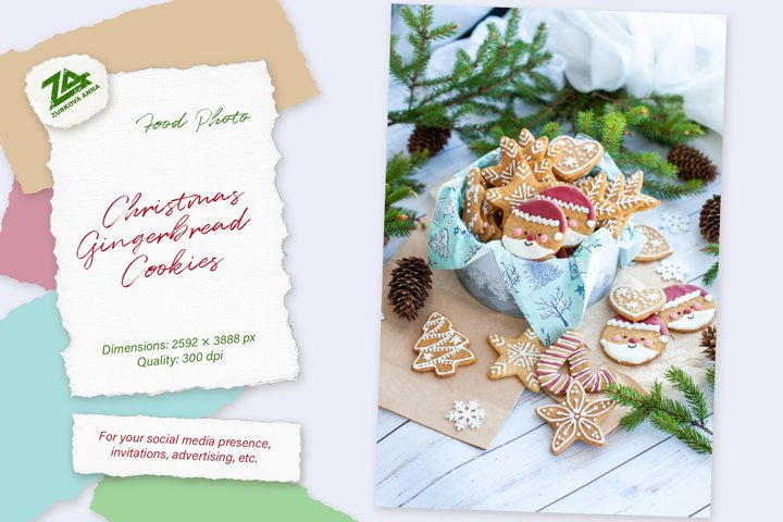Christmas Home made Gingerbread Cookies. Cute & Beautiful