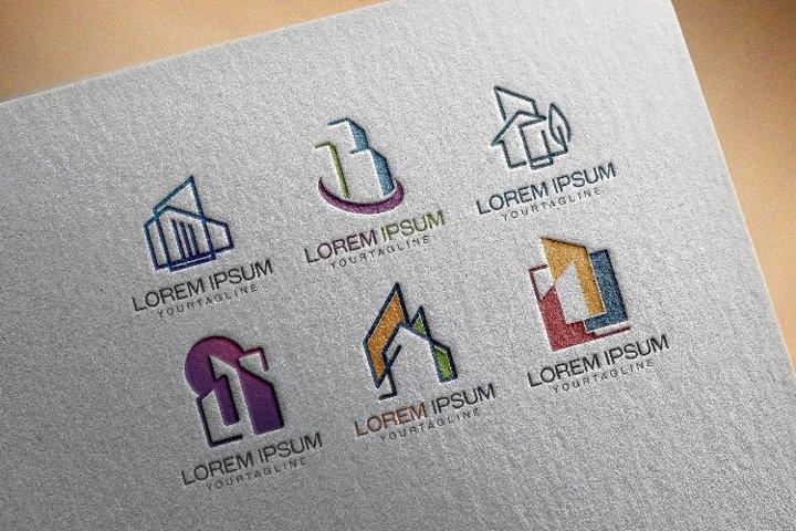 6 Building Architecture Real Estate Logo