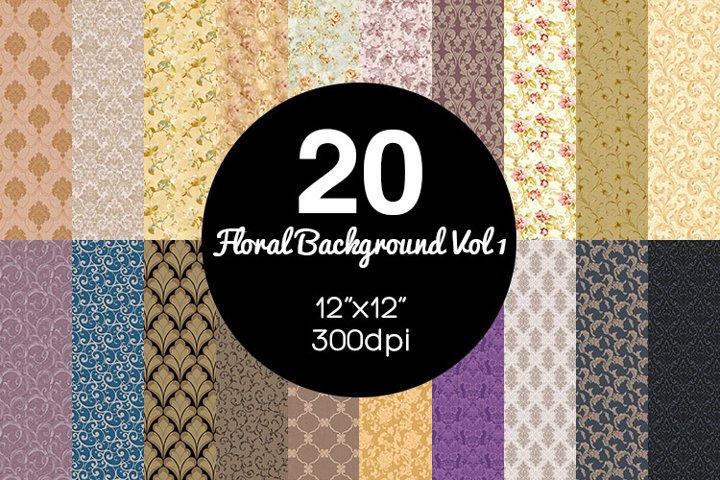 20 Floral Background Vol 1