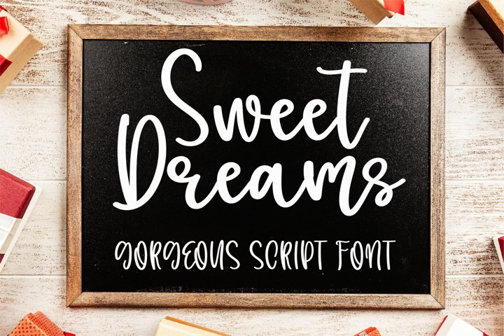 Sweet Dreams- A gorgeous handwritten script font