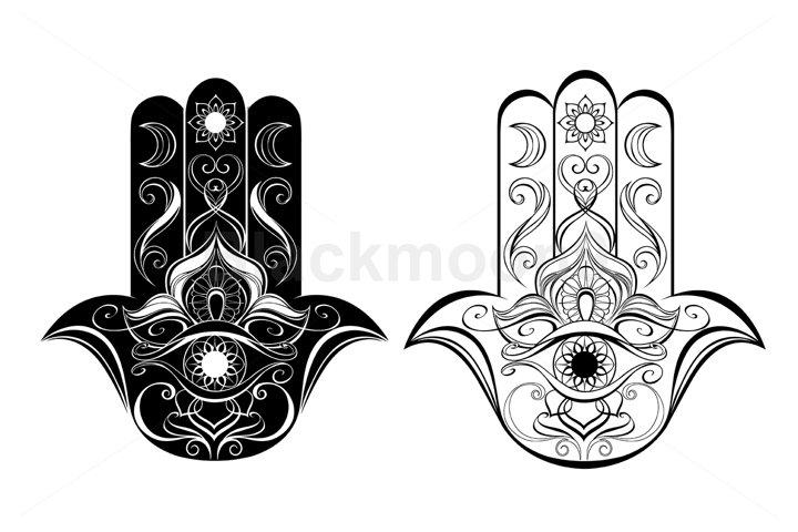 Two Contoured Hands Hamsa