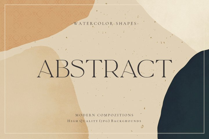 Watercolor Abstract Shapes
