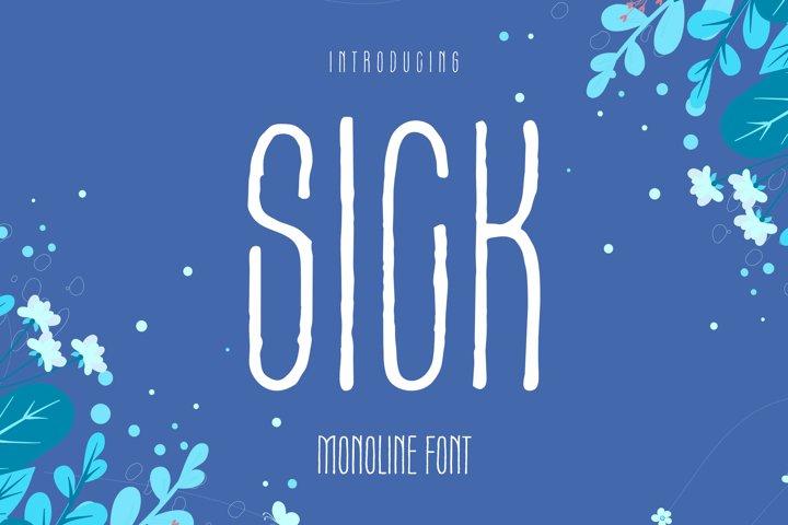Sick Font