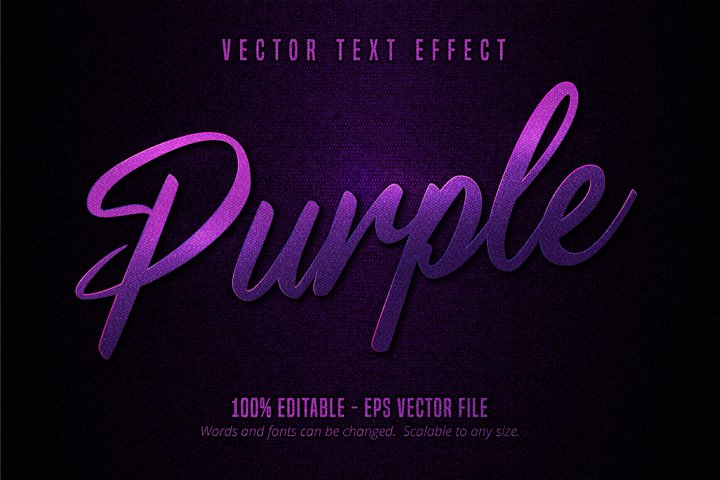 Luxury purple editable text effect on canvas background