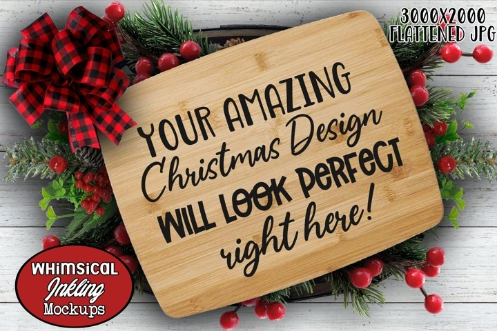 Christmas Cutting Board Mockup