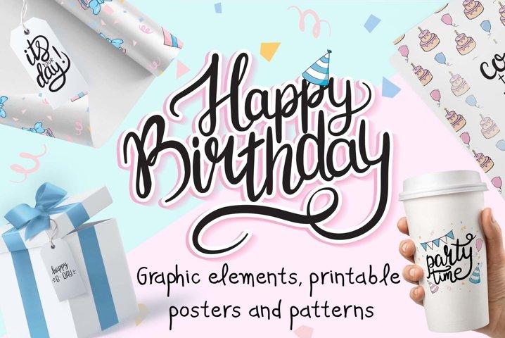 Happy Birthday Graphic Set