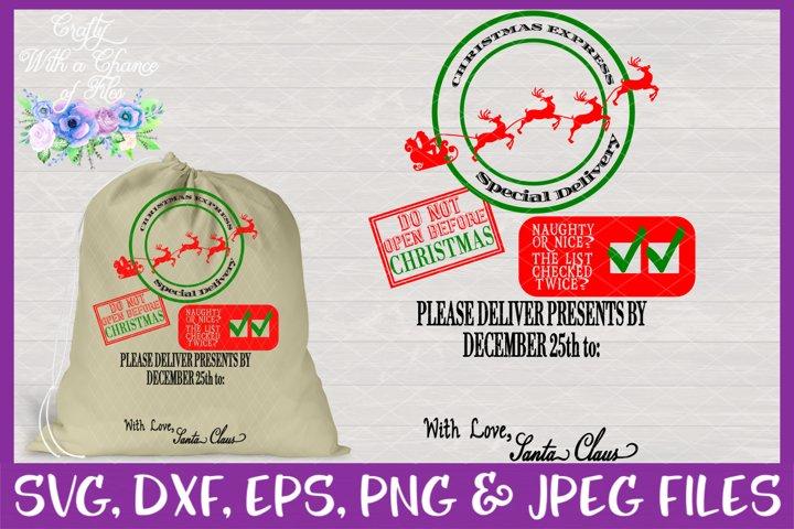 Christmas SVG | Christmas Express SVG | Santa Gift Sack SVG