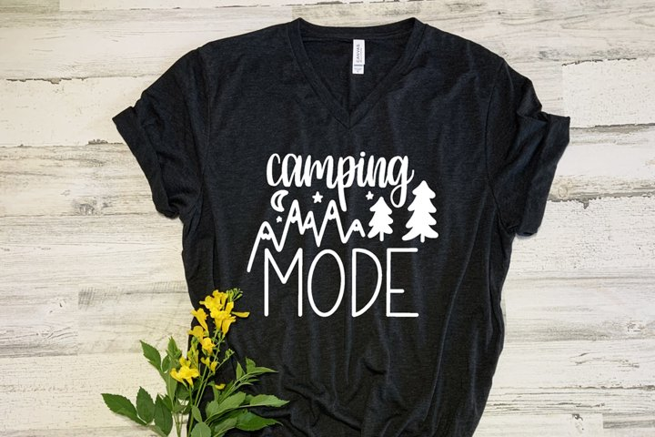 Camping Mode SVG//cut file//PNG//Hand Drawn