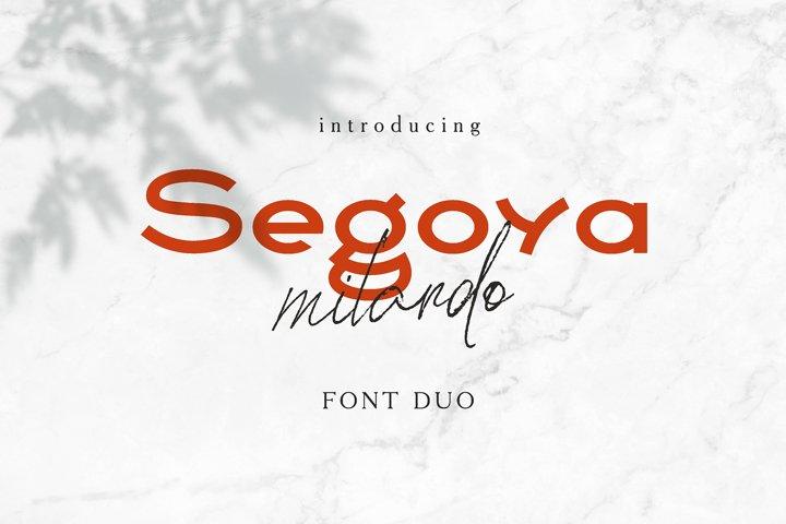Segoya Milardo Font Duo