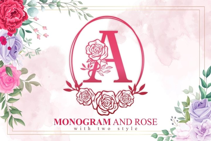 Monogram And Rose