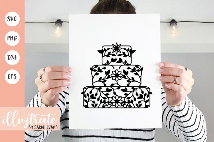 Wedding Cake SVG Cut File | Wedding SVG | Wedding Cut File