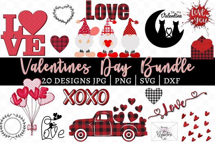 Valentines Day Bundle - 20 Designs SVG, PNG, JPG, DXF