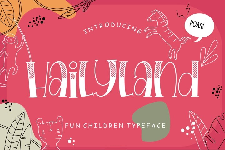 Hailyland Fun Children Typeface