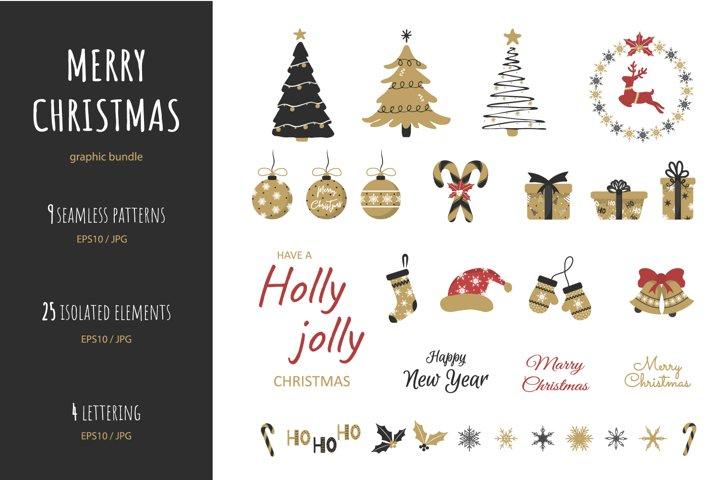 Cute CHRISTMAS pattern set
