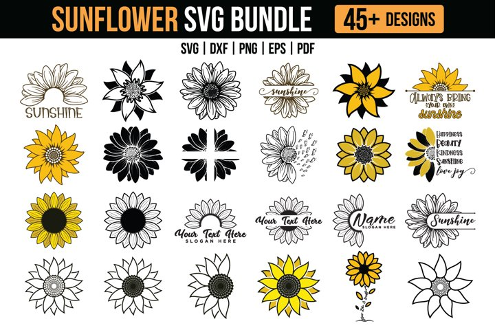 Sunflower SVG Mega Bundle
