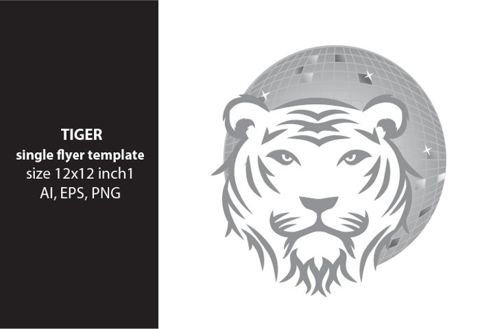 tiger- single vector artwork