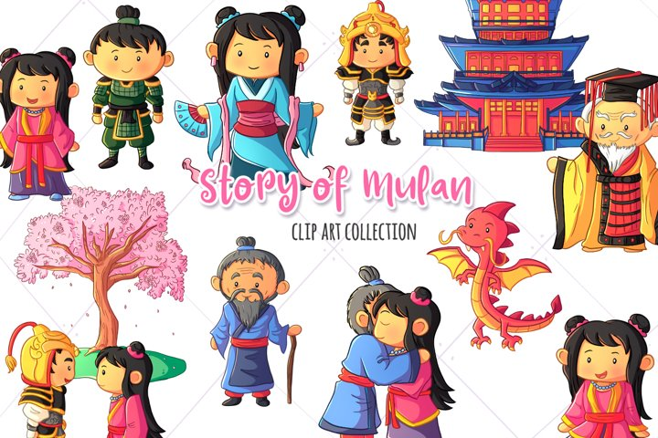 Story of Mulan Clip Art Collection