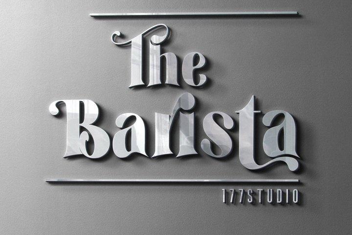 The Barista Font
