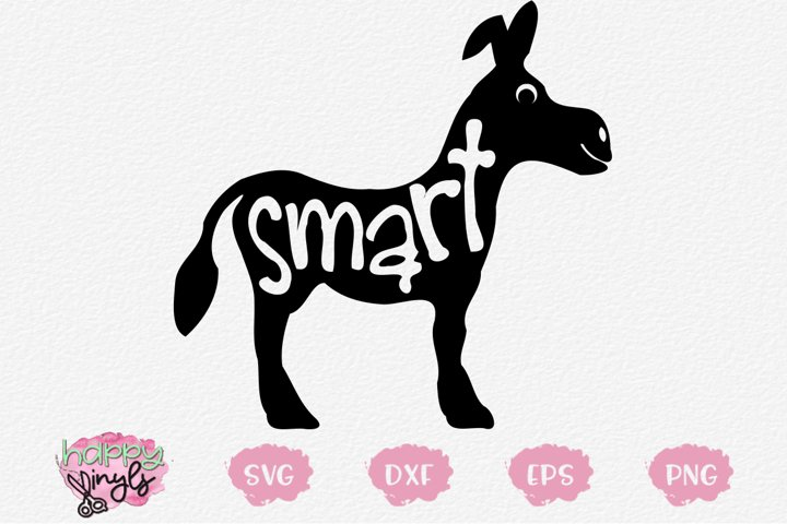 Smart Donkey - A Funny SVG