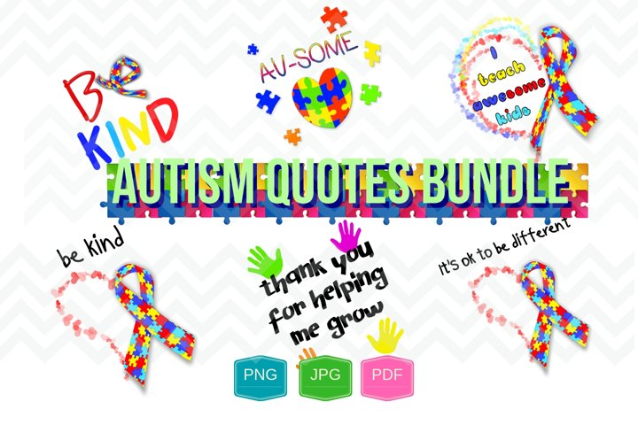 Autism Quotes bundle digital file Printable PNG JPG PDF